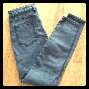 NWOT American Apparel Pencil Jean highwaisted gray